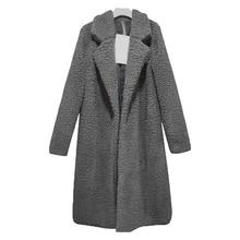 Осеннее Женское пальто, тонкое, модное, одноцветное, размера плюс, смесь шерсти, белое, длинное пальто, 3XL, винтажное, с отложным воротником, уличная одежда, пальто