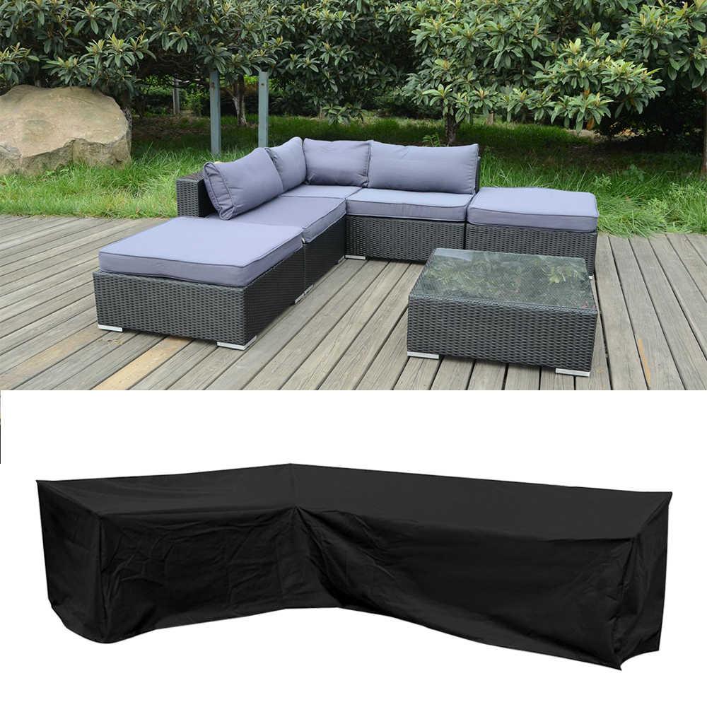 "Garden Corner Furniture Cover Outdoor ""L"" Shape Sofa Protect Set Waterproof"
