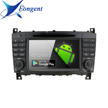 IPS Android 9.0 Stereo Unit Multimedia Radio Player for Mercedes Benz C CLS CLC CLK Class W203 W209 W219 MB Auto GPS Navigator