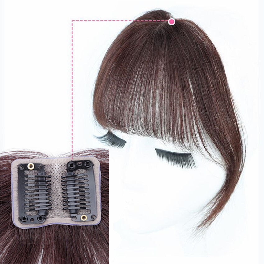 Clip In Bangs Human Hair 3D Air Bangs For Women Brazilian Hair Pieces Invisible Seamless Non-remy Replacement Hair Wig