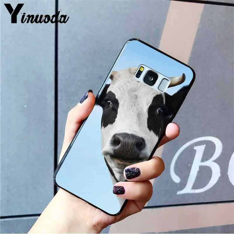 Yinuoda الحيوان الماشية البقرة المائية اللوحة Coque قذيفة الهاتف حقيبة لهاتف سامسونج نوت 3 4 5 7 8 9 10 برو M10 الهواتف المحمولة