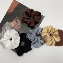 Silk Satin headbands korean fashion women hair band solid co