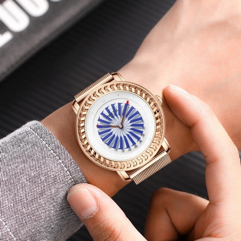 NIBOSI montre de mode hommes Unique cadran mouvement étanche maille bracelet montres pour hommes Quartz sport montre Relogio Masculino - 6