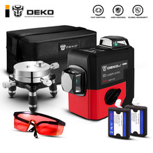 DEKO LL12-HV 12Lines 3D Laser Level Self-Leveling 360 degre Horizontal & Vertical Cross Powerful Outdoor can use Detector(China)