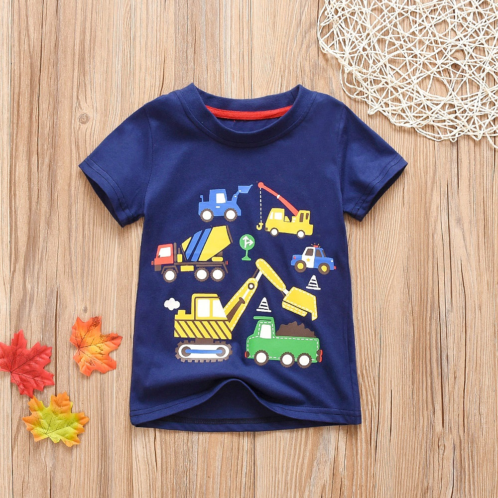 Kids T-Shirt Toddler Tops Girls Clothes Short-Sleeve Printed Children Cotton Summer New title=