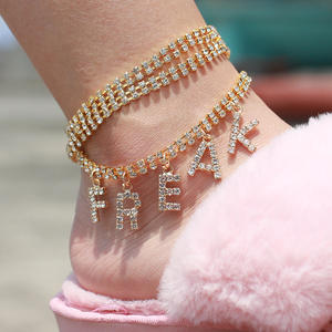 Jewelry Anklet Chain Boho Barefoot Nasty-Letter Gold-Foot Silver-Color Beach Fashion