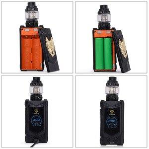 Image 4 - オリジナルsnowwolf mfeng 200ワットボックスmod蒸気を吸うキット6ミリリットルタンクwf 0。2ohm/0.16ohmコイルと1.3インチtftディスプレイ電子タバコキットvs pasito