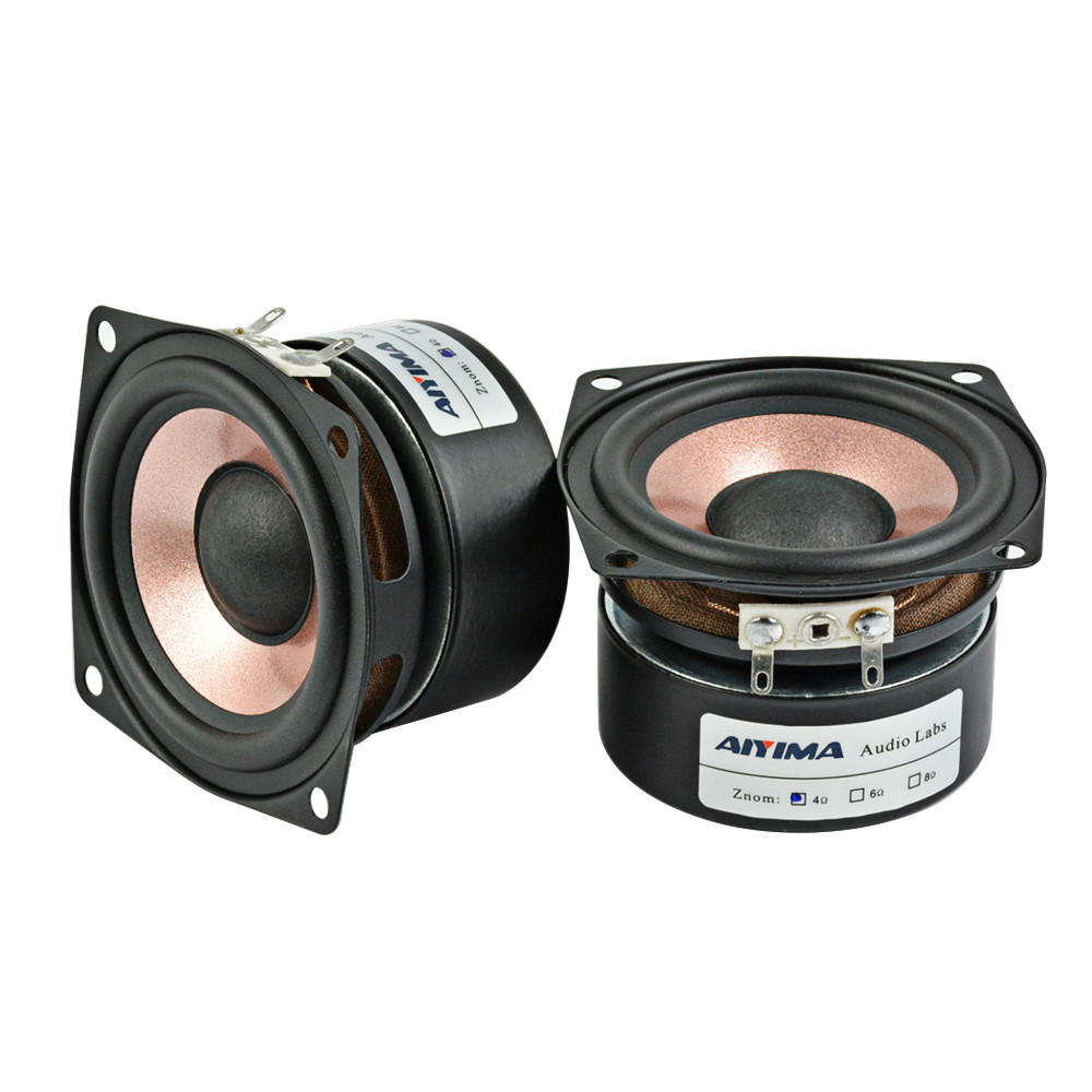 AIYIMA 2Pcs 2.5Inch 4Ohm <font><b>8Ohm</b></font> Audio <font><b>Speaker</b></font> Driver HIFI Desktop Full Range <font><b>Speaker</b></font> High Sensitivity Loudspeaker Driver 8-<font><b>15W</b></font> image