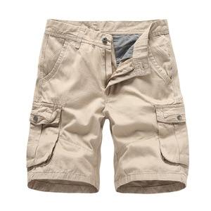 2020 Summer Men's Multi Pocket Military Cargo Shorts Male Cotton Green Mens Casual Tactical Shorts Short Pants No Belt