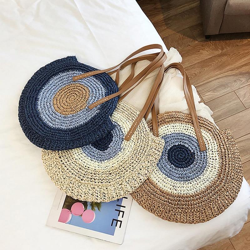 Borse di Paglia Shopping Bag Estate Casual Fatti A Mano