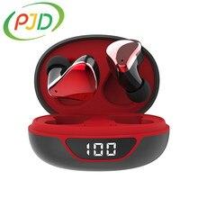 PJD Bluetooth V5.0 słuchawki bezprzewodowe słuchawki z mikrofonem sportowe wodoodporne słuchawki z etui z funkcją ładowania dla Android IOS