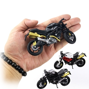 1:18 Home Children Plastic Car Decor Off-road Vehicle Collection Gift Office Model Toy Diecast Motorcycle Simulation Portable image