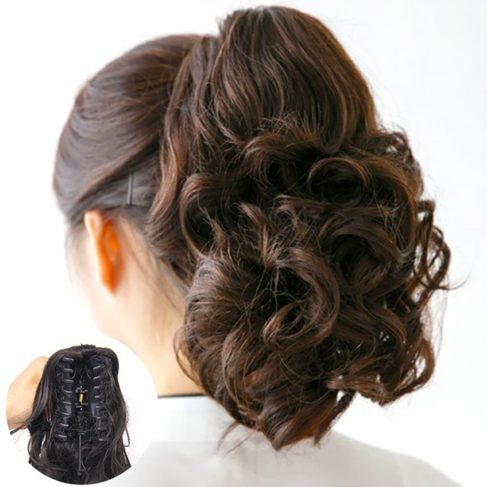 Wavy Synthetic Hair Claw Ponytail Little False Hair Pony Tail Clip In Hair Accessories For Women Hairpiece
