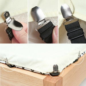 Image 4 - Hot 4pcs/set Elastic Bed Sheet Clips Suspenders Straps Adjustable Heavy Duty  For Home Bed Sheet Clips