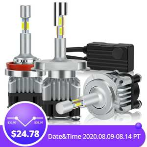 Led-Headlight-Bulbs Auto-Car-Lights Turbo 9006 Hb4 6000K H7 Led 18000LM H11 H3 4-Sides