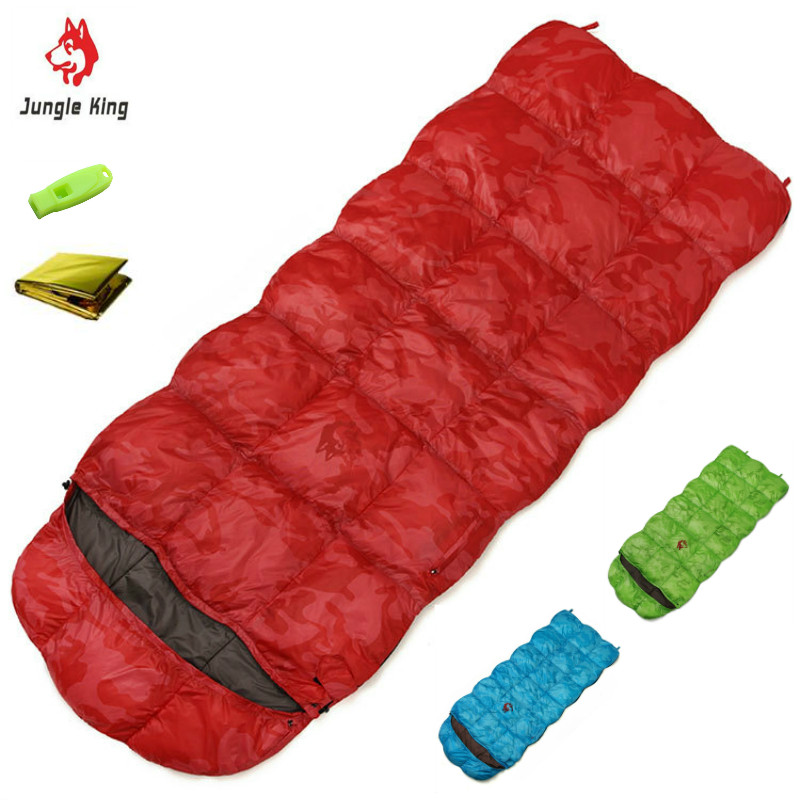 Well-Educated Jungleking Cy550 New Winter Outdoor High Quality Down Filling Envelope Camping -20 Degrees Thickening Widening Camo Sleeping Bag Save 50-70%