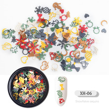 CHIVENIDO 3D SnowFlake Stickers  Nail Studs Christmas Mixed Decorations forNail Art Salon