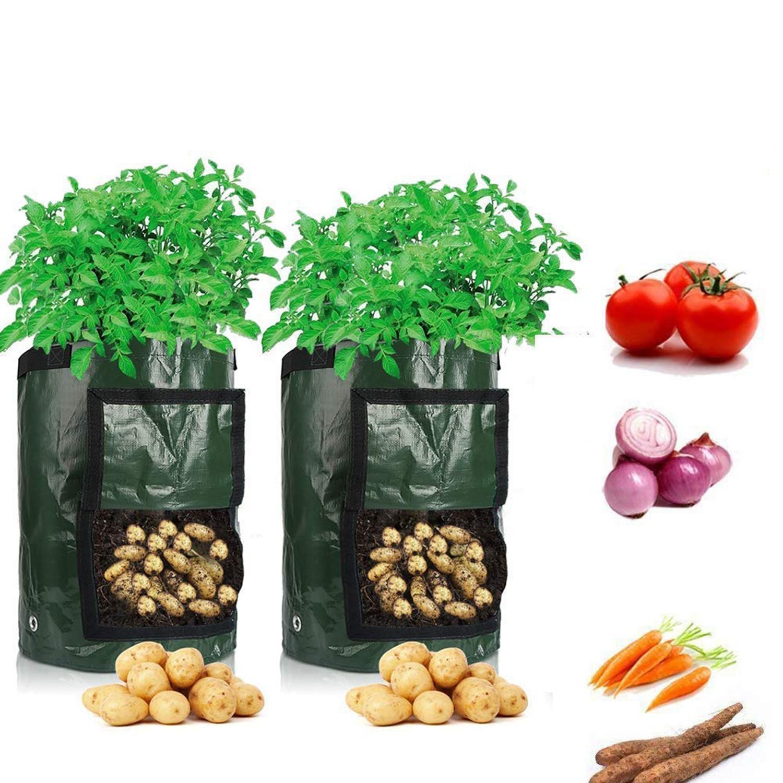 Culture de pommes de terre plantation sacs en tissu tissé Pots de jardin jardinières sacs de plantation de légumes sac de culture ferme maison outil de jardin D30