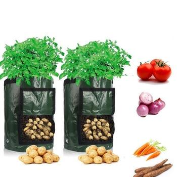 Potato Cultivation Planting Woven Fabric Bags Garden Pots Planters Vegetable Grow Bag Farm Home Tool D30 - discount item  30% OFF Garden Supplies