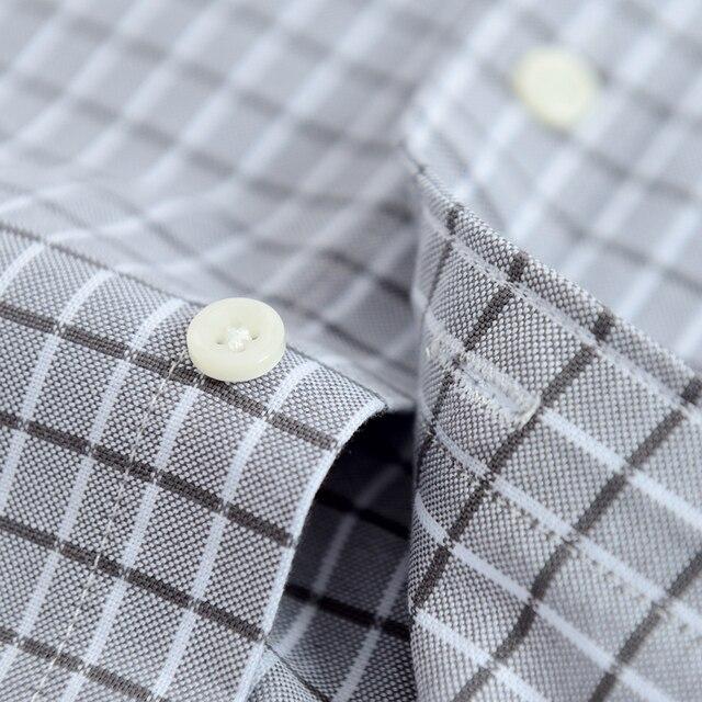 Men's Plaid Checked Oxford Button-down Shirt 6