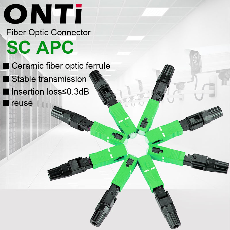 Ftth-Fiber Field-Assembly Sc Apc Fiber-Optic-Adapter Quick-Connector Onti Single-Mode