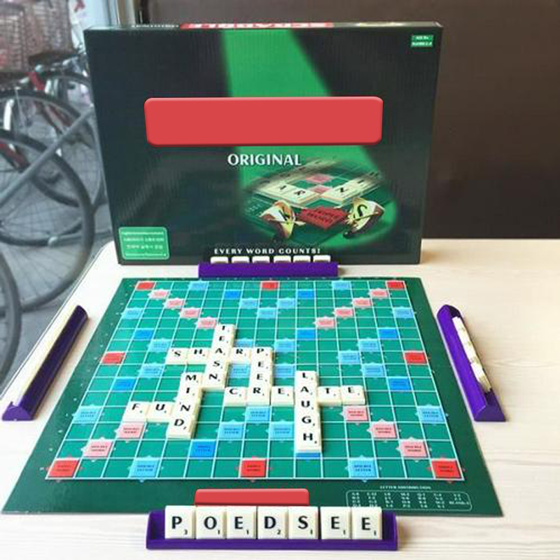 Family Scrabble Game Kids Adult Educational Learning Party Game Board HOT