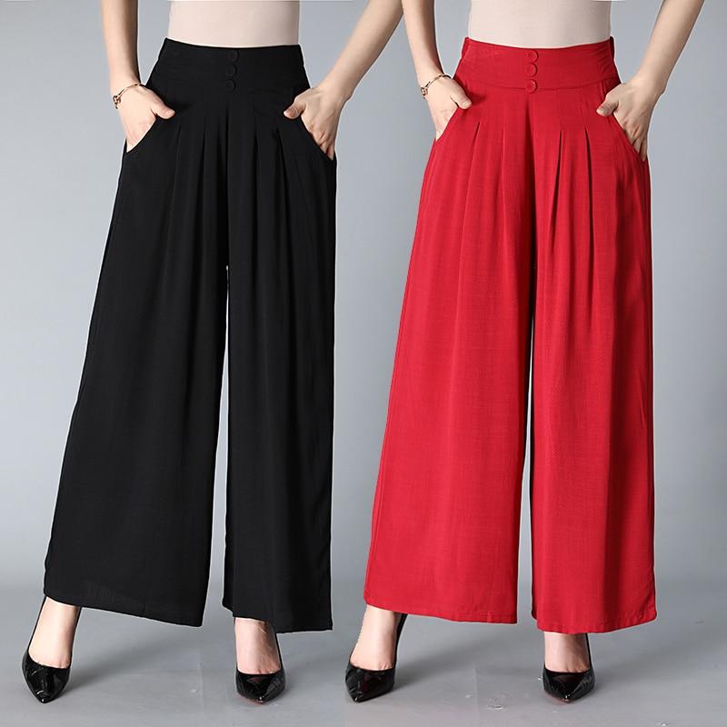 Wide Leg Pants Dance Pant High Quality Solid Loose Wide-Legged Pants Women Dance Trousers Cross Pants Casual Cropped Pants