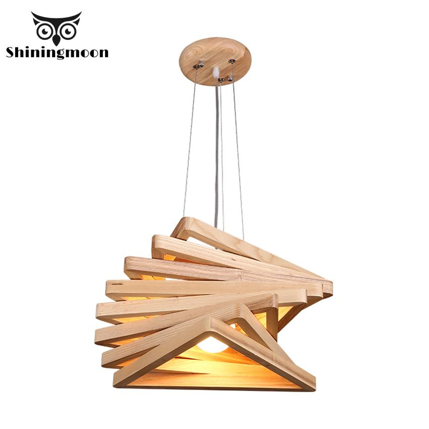 Japanese Style Wood Pendant Lights Modena Creative Led Deco Pendant Lamp Luminaire Dinning Room Kitchen Hanging Lights Fixtures