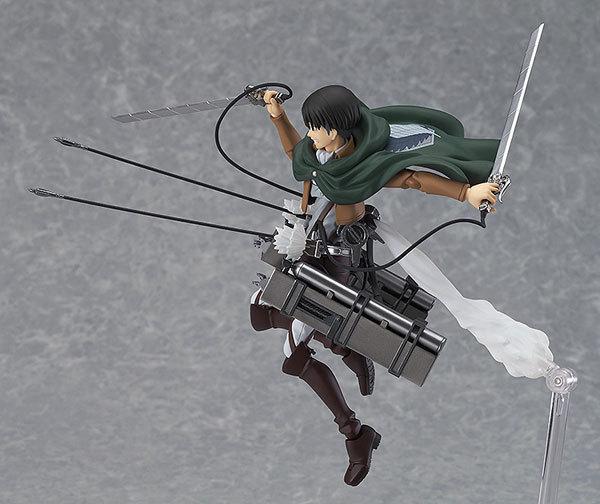 15cm New Anime Attack on Titan Eren Mikasa Levi Ackerman Figma 213 Movable Ver PVC Action Figure Collectible Model Toys 2