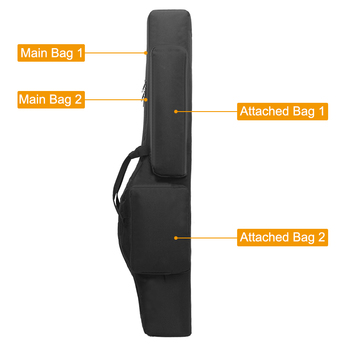 Tactical 120cm Double-Layer Gun Bag Military Waterproof Rifle Pouch Holster Airsoft Gun Padded Case Carry  Hunting Accessories 3