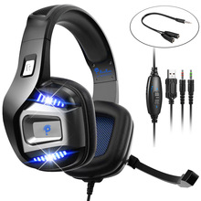 Professional Gamer Headset Led Light 3D Wired Headphone  For PS4 PS5 Fifa 21  Xbox Laptop PC Gaming Headphones Noise Reducetion