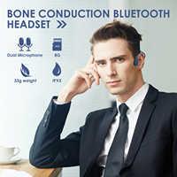X9 Bone Conduction Headset Built in 8Gb Memory Wearable MP3 Player IP55 Bluetooth Bone Conduction Headset w/ Mic Sports Earphone