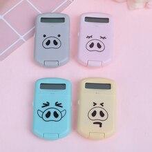 Mini Cute Pocket 8 Digits Electronic Calculator Desktop Student School Supply Creative Portable for school student