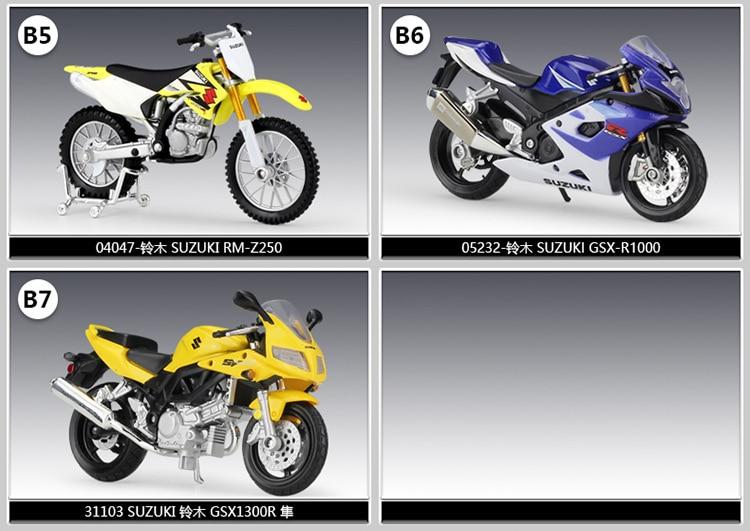gs motocicletas motos diecast modelos de exibição