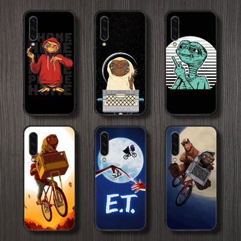 movie E.T. the Extra-Terrestrial Phone Case Cover For Samsung Galaxy A10 A20 A30 E A40 A50 A51 A70 A71 J 5 6 7 8 S black back image