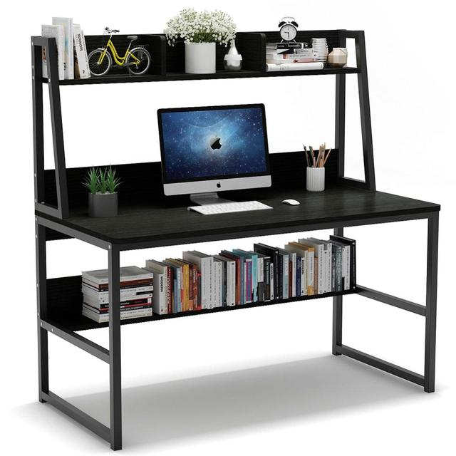 Computer Desk with Hutch 4