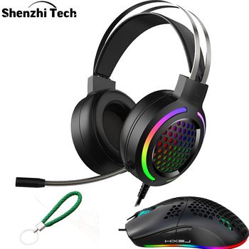 Usb Gaming Headset Ps4 Headset PC 7.1 with RGB Light Noise Canceling Headphone Gamer With Microphone For Tablet PC PS4 Gamer somic g954 usb 7 1 gaming headset headphones with microphone noise cancelling stereo bass vibration led light for pc ps4 gamer