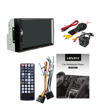 """7"""" HD 2DIN Bluetooth Hands-free Car Stereo Radio MP5 Player Touch Screen BT USB FM Phone Link+Rearview Camera"""