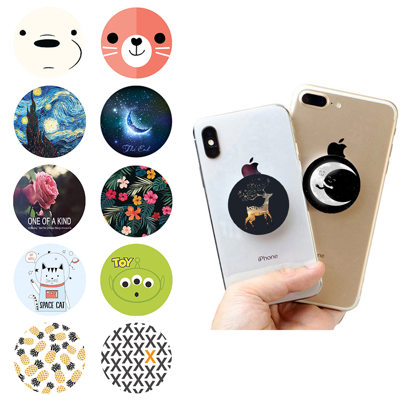Popping телефона Cute Stand попсокет Original Round Finger Ring Hot Phone Holder Pocket Socket Grip Hand Expanding Smartphone