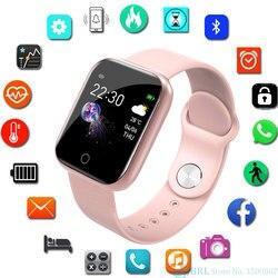 Baru Smart Watch Wanita Pria Smartwatch untuk Android IOS Elektronik Jam Pintar Kebugaran Pelacak Silikon Strap Smart-Menonton Jam