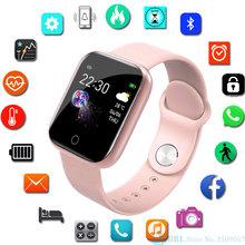 Nowy inteligentny zegarek kobiety mężczyźni smartwatch dla androida IOS elektronika inteligentny zegar opaska monitorująca aktywność fizyczną pasek silikonowy Smart-Watch Hours tanie tanio JBRL Android OS Na nadgarstku Wszystko kompatybilny 128 MB Passometer Fitness tracker Uśpienia tracker Wiadomość przypomnienie