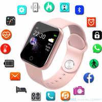 Relógio inteligente para android ios eletrônica relógio inteligente de fitness rastreador pulseira de silicone inteligente-relógio horas