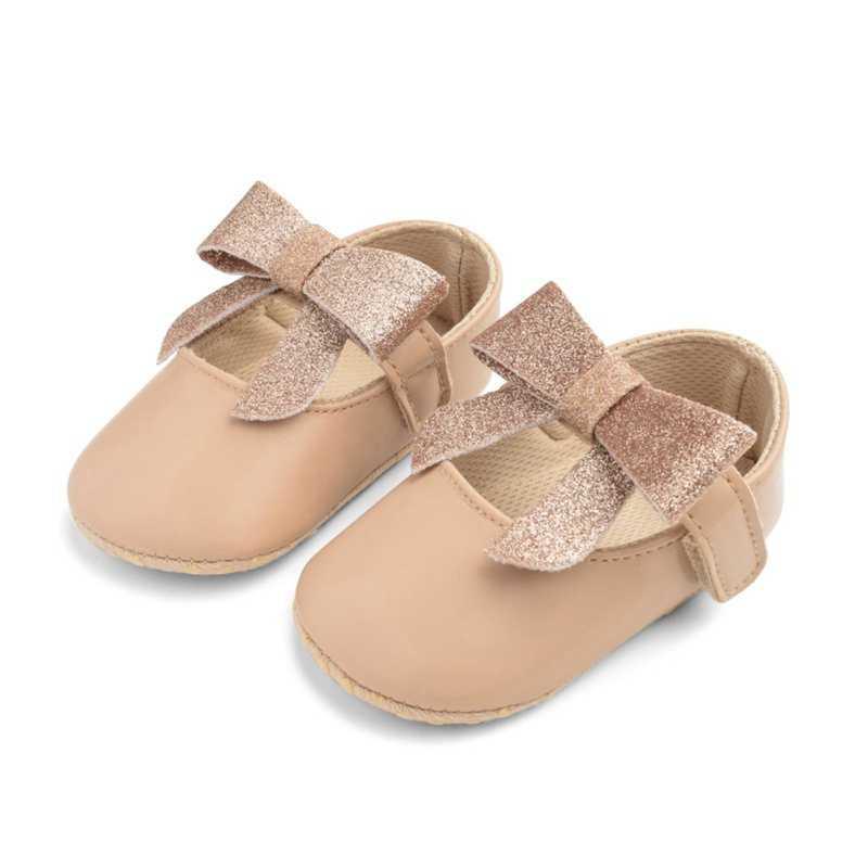 Niño chica zapatos de color sólido corbata diseño suave recién nacido Anti-Bebé Zapatos de suela suave calzado de niños