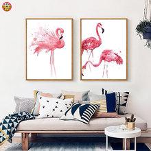 Живопись по номерам художественная краска diy иллюстрация фламинго