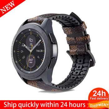 18 20 22mm Silicone Leather watch Strap for Samsung Galaxy Watch Band Gear S2 S3 Classic Frontier active Huawei GT - discount item  52% OFF Watches Accessories