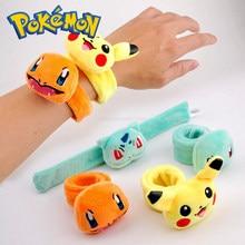 TAKARA TOMY Pokemon nadziewane Pikachu pluszowe zabawki kawaii śliczne miękkie szczęśliwa lalka mini ręcznie władca zabawki dla dzieci prezent kid boże narodzenie urodziny