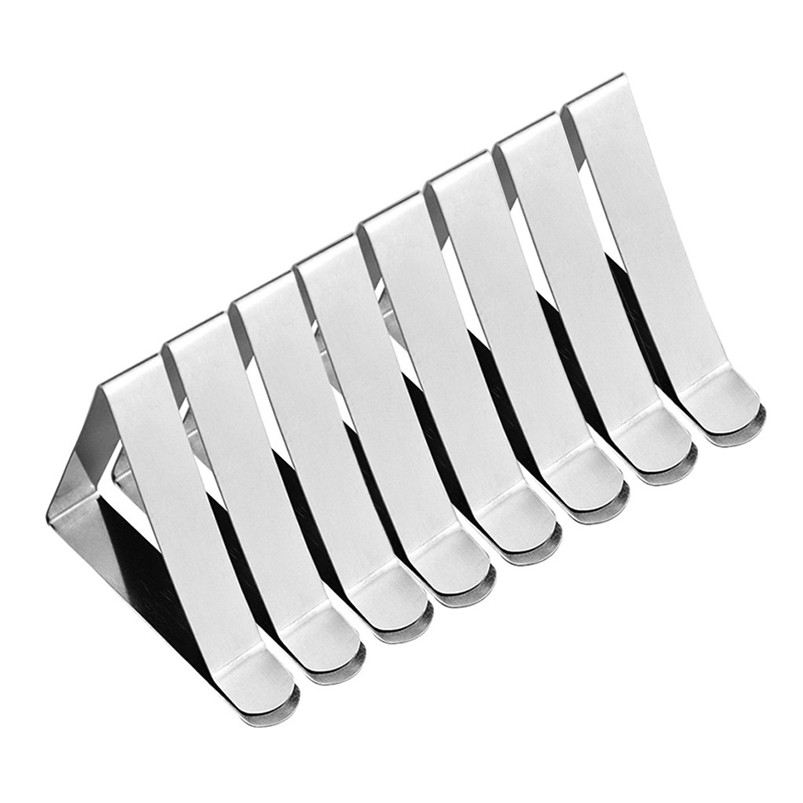 8PC Stainless Steel Tablecloth Clamp Table Cover Clips Tablecloth Fixed Clips Tablecloth Clamp Home Decoration 30NOV1806