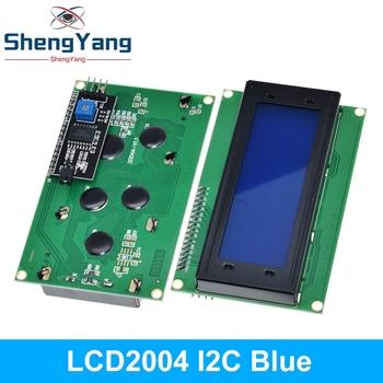 IIC I2C TWI 2004 szeregowy niebieski zielony podświetlenie LCD moduł dla Arduino UNO R3 MEGA2560 20X4 LCD2004 tanie i dobre opinie CN (pochodzenie) LCD Board 2004 Charakter 16 x 2