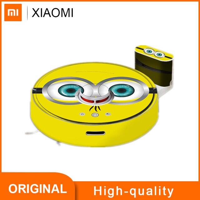 Cartoon Roborock S50 S51 S55 Robot Vacuum Cleaner Sticker Beautifying Protective Film Minion Orange Color Stripe Cartoon Design
