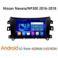 Radio multimedia con GPS para coche, radio con reproductor, android, 4G + 64G, DVD, para Nissan navara NP300 2016 2018